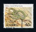 Sellos del Mundo : Oceania : Australia : serpiente cara amarilla