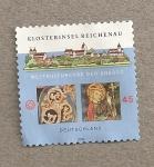 Sellos de Europa - Alemania -  Monasterio de Reichenau en una isla