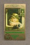 Stamps Germany -  Niña con muñeca por Leberecht Vogel