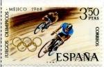 Stamps Spain -  Méjico 68
