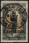 Stamps Cameroon -  Congo Francés, dos colmillos de elefante,  mujer de la tribu Bakalois. Sobreimpreso CAMEROUN.