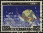 Sellos del Mundo : America : Perú : 1957 - 1958 Año geofísico internacional. La tierra y su ecuador magnético.