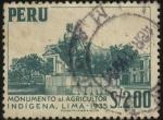 Sellos del Mundo : America : Perú : Monumento al agricultor indígena. Lima.