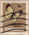 Stamps Tanzania -  1973 Mariposas: Colotis ione