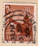 Stamps Tanzania -  1961 Independencia Tanganyica: recoleccion de maiz