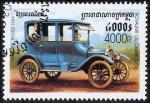 Stamps Cambodia -  Coches clásicos
