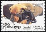 Stamps Cambodia -  Perros