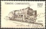 Sellos de Asia - Turquía -  locomotora