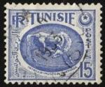 Stamps Tunisia -  Túnez. Corcél tallado. Museo Nacional de Cartago.