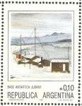 Sellos de America - Argentina -  base antartica jubany