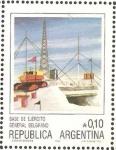 Sellos de America - Argentina -  base de ejercito general belgrano
