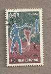 Sellos de Asia - Vietnam -  Sudvienamita señalando al norte