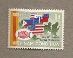 Sellos de Asia - Vietnam -  Banderas de los aliados de Vietnam