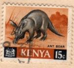 Stamps Africa - Kenya -  1966 Oso hormiguero