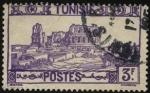 Stamps Tunisia -  Ruinas del anfiteatro de El Djem, también conocido como coliseo de Thysdrus.
