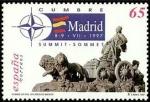 Sellos de Europa - España -  ESPAÑA 1997 3496 Sello Nuevo Cumbre del Consejo Atlantico Norte OTAN Plaza Cibeles Michel3338