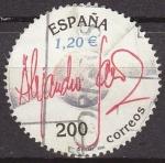 Sellos de Europa - España -  ESPAÑA 2000 3756 Sello Expo Mundial Filatelia ESPAÑA'2000 Personajes Musica Alejandro Sanz Usado