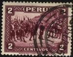 Sellos del Mundo : America : Per� : Francisco Pizarro y los Trece de la Fama que esperaron refuerzos espa�oles durante cinco meses en la
