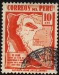 Sellos de America - Perú -  Mapa de Perú con las carreteras en los Andes, las de mayor altura en el mundo.