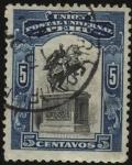 Stamps Peru -  Monumento al Libertador Simón Bolivar en la Plaza del Congreso en Lima.