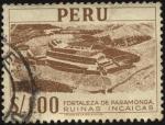 Sellos del Mundo : America : Perú : Ruinas Incaicas. Fortaleza de Paramonga, construida de adobo, barro y piedra.