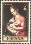 Stamps of the world : Spain :  1966 - Luis de Morales, La Virgen y el Niño