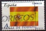 Sellos de Europa - España -  ESPAÑA 2009 4446 Sello Banderas y Mapas Bandera Nacional Usado