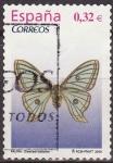 Stamps Spain -  ESPAÑA 2009 4464 Sello Flora y Fauna Mariposa Graellsia Isabelae usado