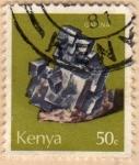 Stamps Africa - Kenya -  1977 Minerales: galena