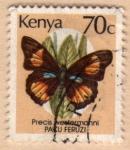 Stamps Africa - Kenya -  Mariposas