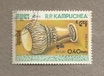 Stamps Asia - Cambodia -  Instrumentos musicales