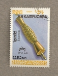 Stamps Cambodia -  Instrumentos musicales