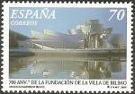 Stamps of the world : Spain :  3714 - 700 anivº de la villa de Bilbao (Museo Guggenheim)