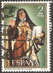Stamps : Europe : Spain :  2028 - Santa Teresa, doctora de la Iglesia