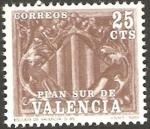Stamps of the world : Spain :  10 - Plan Sur de Valencia, Escudo de Valencia, siglo XV