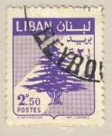 Stamps Asia - Lebanon -  escudo cedro libanes