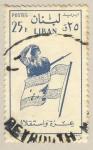 Stamps Asia - Lebanon -  soldado y bandera