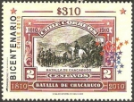 Stamps Chile -  bicentenario, batalla de chacabuco