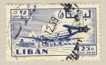 Sellos de Asia - Líbano -  embarcando en avion