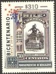 Stamps Chile -  bicentenario, monumento a o'higgins