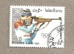 Sellos de Asia - Laos -  Juegos olimpicos Invierno Albertville 92