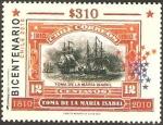 Stamps Chile -  bicentenario, toma de la maria isabel