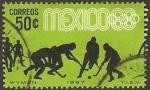 sellos de America - México -  olimpiadas mexico 68, hockey