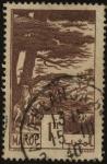 Stamps Morocco -  Jinete marroquí a caballo y gran árbol de cedro.