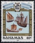 Stamps America - Bahamas -  Cristobal Colón