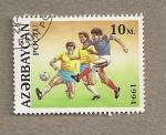 Sellos del Mundo : Asia : Azerbaiyán : Fútbol