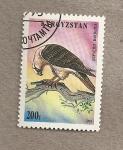Sellos del Mundo : Asia : Kirguistán : Ave Gupaetus barbatus