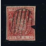 Stamps Europe - Spain -  Edifil  nº  24  Escudo de España  1 enero 1854