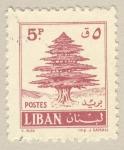 Stamps Asia - Lebanon -  cedro libanes