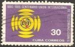 Sellos de America - Cuba -  centº union internacional de telecomunicaciones